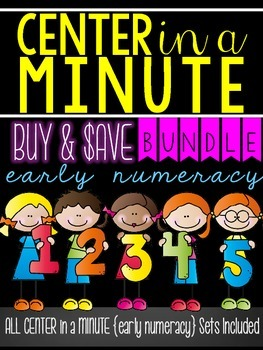 Center in a Minute {Early Numeracy}: Counting BUNDLE
