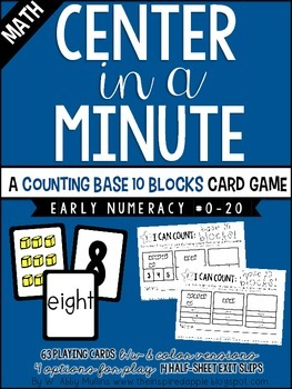 Center in a Minute {Early Numeracy}: Counting Base 10 Blocks