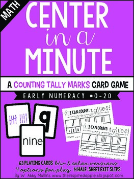Center in a Minute {Early Numeracy}: Counting Tallies