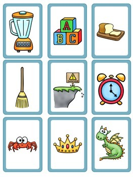 Center in a Minute {First Grade}: A Consonant Blends Game