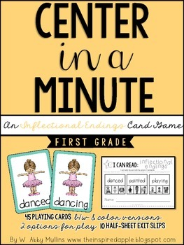 Center in a Minute {First Grade}: An Inflectional Endings