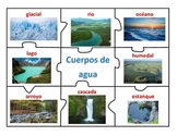 Center of Bodies of Water and Landforms in Spanish