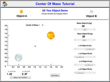 Physics - Center of Mass Tutorial Software
