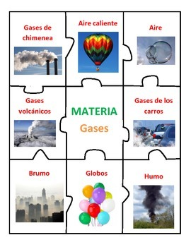 Center of Matter in Spanish - Solids, Liquids, Gases
