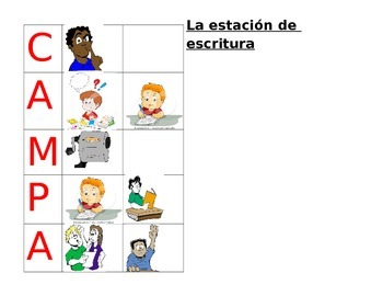 Center or Station CHAMPS signs - Spanish