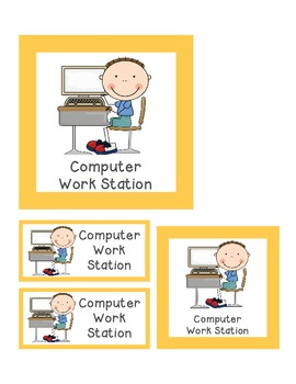Center or Work Station Signs, Management Cards, and Labels