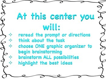 Center Signs for Writers Workshop