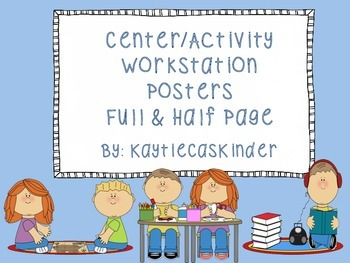 Center/Activity Workstation Poster Signs