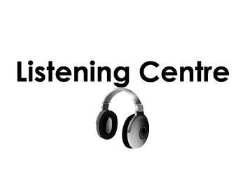 Center/Centre Signs - Kindergarten Classroom Organization