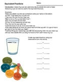 Center/Group Worksheet Comparing Fractions 4.NF.A.2