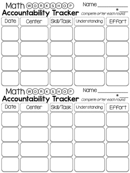 Centers Accountability Trackers