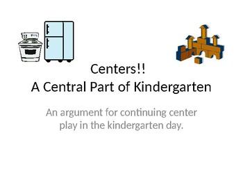 Centers!  An Integral Part of Kindergarten