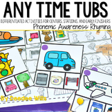 Centers Anytime ~ Phonemic Awareness Rhyming