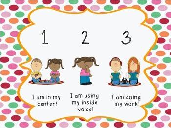 Centers Behavior Self-Check Bilingual