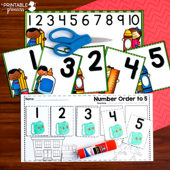 Back to School Literacy and Math Centers for Kindergarten | Bundle #1