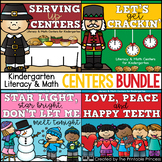 Centers Bundle #2: {Nov, Dec, Jan, & Feb,} Literacy & Math for Kindergarten