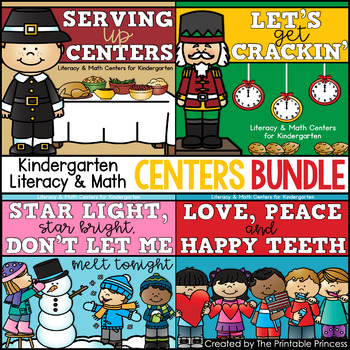 Centers Bundle #2: {Nov, Dec, Jan, & Feb,} Literacy & Math