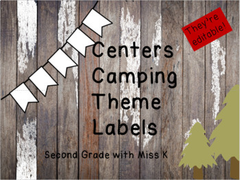 Centers Camping Themed Labels