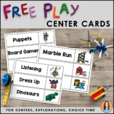 Free Play / Centers / Choice Time Cards (Boardmaker Symbols)