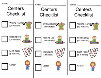 Centers Checklist