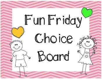 Centers Choice Board