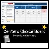 Centers Choice Board Dynamic Anchor Chart / Tracker