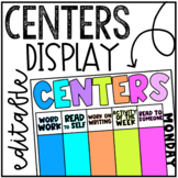 Editable Centers Display