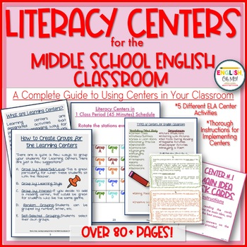 Centers-English Literacy Centers for the Middle School Classroom