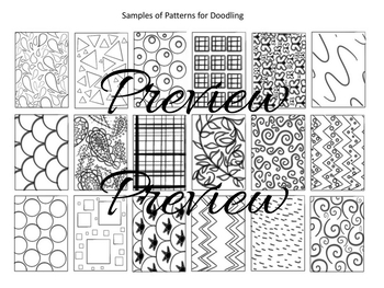 Doodle Art - Fancy Decorated Trees - for Centers or Early Finishers