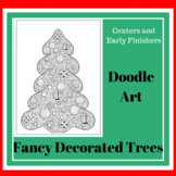 Doodle Art - Fancy Decorated Trees - for Centers or Early
