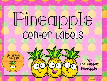 Centers Labels in Tropical Pineapple Theme