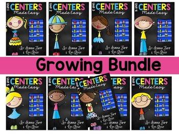 Kindergarten Centers  YEAR LONG BUNDLE