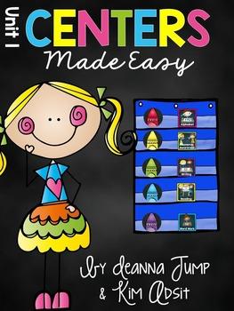 Kindergarten Literacy Centers Made Easy Unit 1