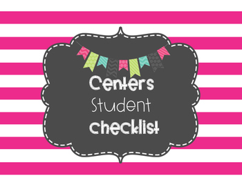 Centers Management Student Checklist