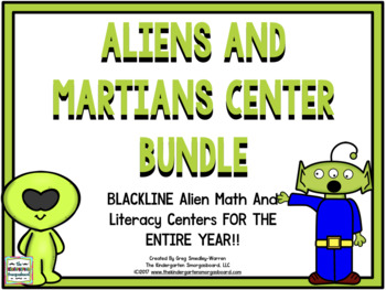 Centers!  Martian Math And Literacy Centers Blackline!