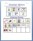 Centers Menu and Activity Sheets