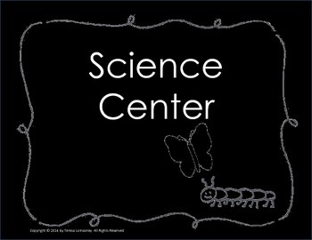 "Posters Center Signs 8.5""x11"" Chalkboard Background"