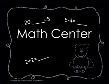 """Posters Center Signs 8.5""""x11"""" Chalkboard Background"""