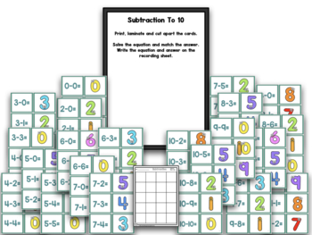Pocket Chart Concentration Centers And Games SET 2!