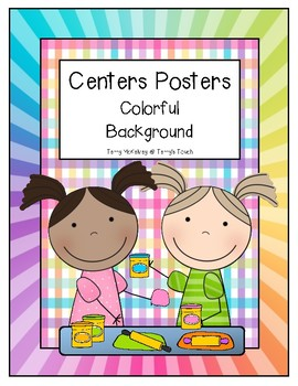 Centers Poster Colorful Background