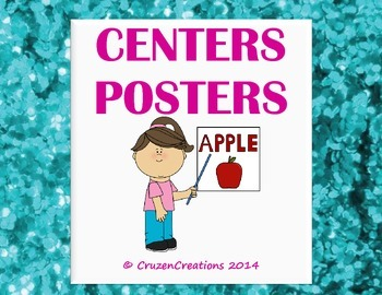 Centers Posters - Blue Glitter