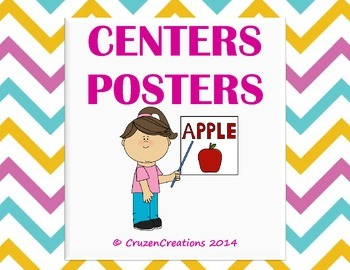 Centers Posters - Bright Chevron