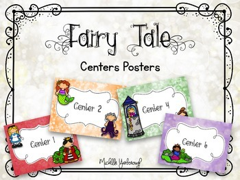 Centers Posters - Fairy Tale Theme