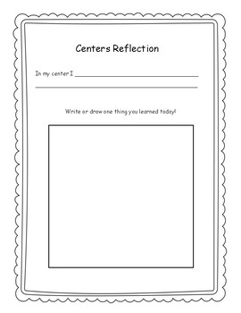 Centers Reflection