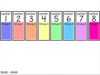 Centers Rotation Chart (Editable) - 8 centers