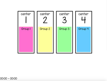 Centers Rotation Chart (editable) - 4 Centers