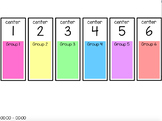 Centers Rotation Chart (editable) - 6 Centers