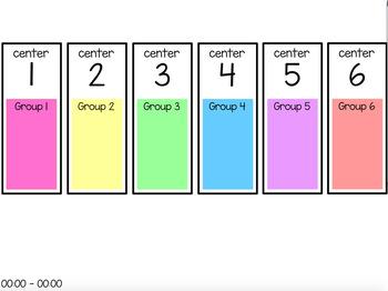 Centers Rotation Chart (editable) - 6 Centers