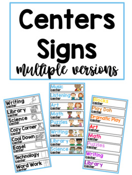 Centers Signs