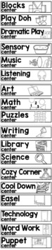 Pre-K Learning Centers Signs